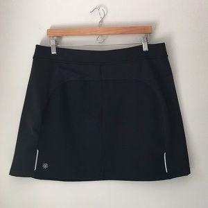 Athleta Black Fleece Lined Skirt